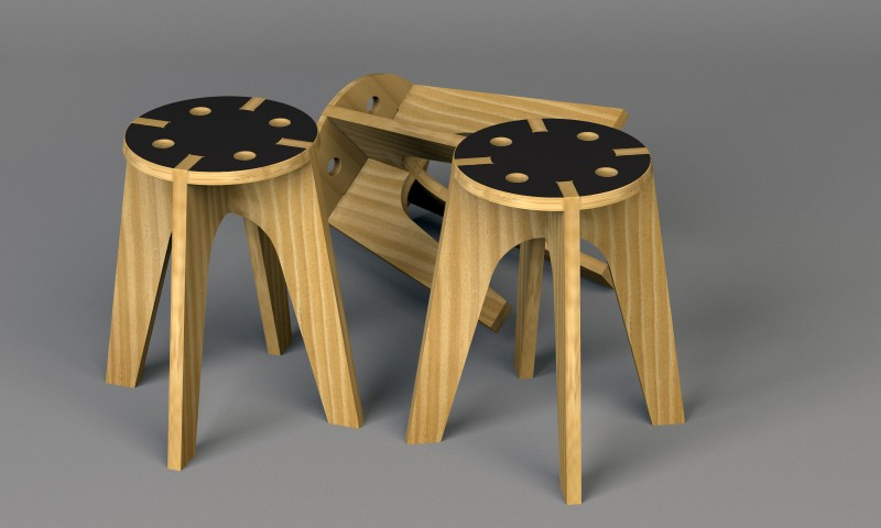 Plywood Tabourets for DUV
