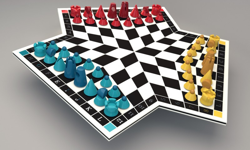 Trio Chess Set